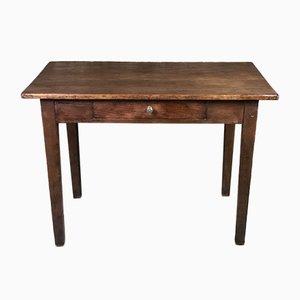 Side Table or Small Desk in Waxed Fir & Walnut, 1900-1920