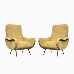 Italian Lounge Chairs by Marco Zanuso, 1960s, Set of 2
