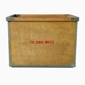 Cassa grande industriale in legno di CH Dahlinger