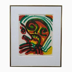 Bengt Lindström, Abstract Hand Signed Lithograph, 1970s