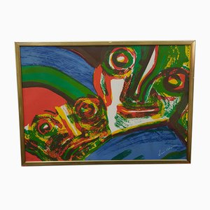 Bengt Lindström, Large Abstract Hand Signed Lithograph, 1970s