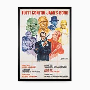 Italienisches Everybody Against James Bond Film Festival Poster, 1972