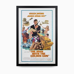 Poster di James Bond Man with the Golden Gun, 1974