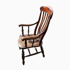 Windsor Farmhouse Armchair in Oak with Elm Seat, 1900s