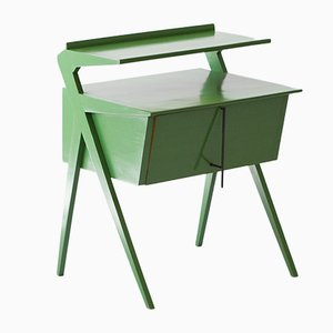 Italian Little Green Lacquered Sideboard, 1950s