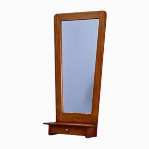 Dänischer Spiegel mit Schublade aus Teak, 1960er