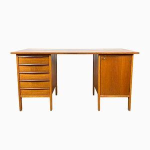 Schwedischer Teak Schreibtisch, 1960er