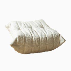 Togo Pouf in Weiß Bouclette von Michel Ducaroy für Ligne Roset