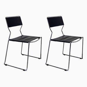 Stühle im Giandomenic Stil, 1980er, 2er Set