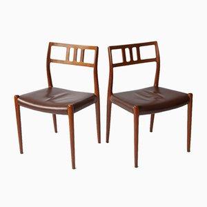 Dänische Vintage Stühle von Niels Møller für JL Møllers, 2er Set