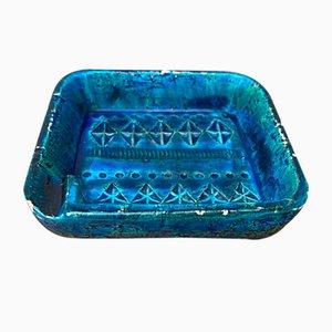 Vintage Italian Rimini Blue Pottery Ashtray by Aldo Londi for Bitossi