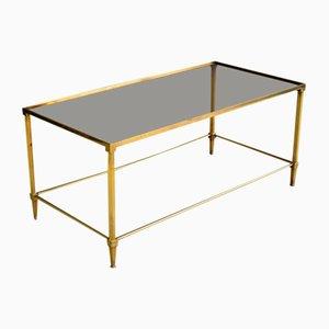 Mid-Century Modern Brass Coffee Table Attributed to Maison Jansen