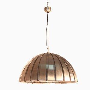 Lámpara colgante italiana de acero de Martinelli Luce, años 70