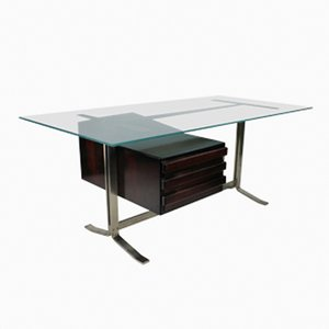 Large Italian Executive Desk by Gianni Moscatelli for Formanova
