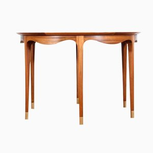 Mid-Century Modern Walnut Coffe Table by Ole Wanscher for A. J. Iversen