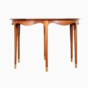 Tavolino da caffè Mid-Century moderno in noce di Ole Wanscher per A. J. Iversen