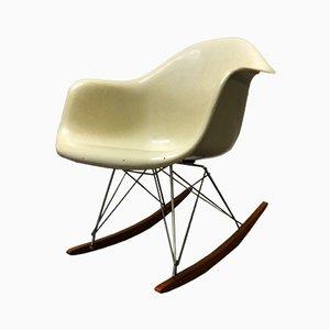 Sedia a dondolo RAR beige di Charles & Ray Eames for Fehlbaum