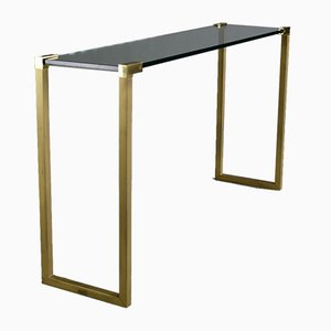 Hollywood Regency Brass and Glass Console by Peter Ghyczy