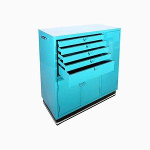 Armoire à Pharmacie Vintage Turquoise par Karl Baisch