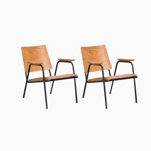 Armlehnstühle aus Buchenholz,1950s, 2er Set