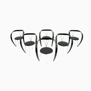 Revers Dining Chairs by Andrea Branzi for Cassina, 1993, Set of 6