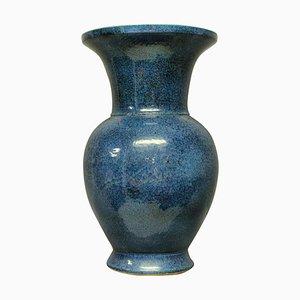 Mid-Century Blue Glazed Floor Vase