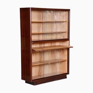 Mid-Century Modern Bücherregal aus Mahagoni und Eschenholz, 1940er