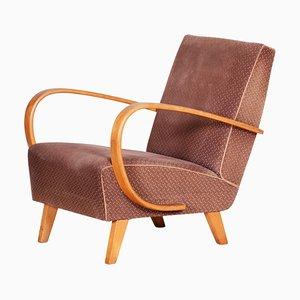 Art Deco Style Brown Armchair, Czechia, 1930s