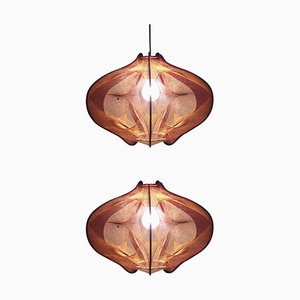 Mid-Century Pendant Lamps in the Style of Paul Secon, 1960s, Set of 2
