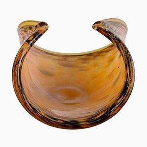 Große Schale aus polychromem mundgeblasenem Muranoglas, 1960er oder 1970er
