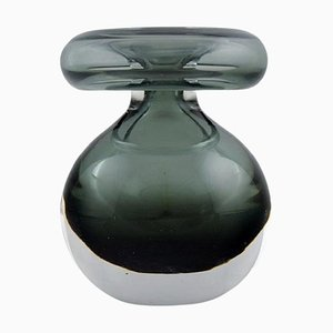 Vase in Gray and Clear Art Glass by Nanny Still for Riihimäen Lasi