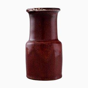Vase aus glasierter Keramik von Stig Lindberg für Gustavsberg, 1960er