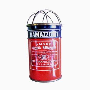Lámpara de pie Ramazzotti italiana de latón y acero de Trevu Italiana, años 60