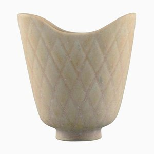 Vase aus glasierter Keramik von Gunnar Nylund für Rörstrand, Mid-Century