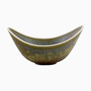 Schale aus glasierter Keramik von Gunnar Nylund für Rörstrand, Mitte des 20. Jh