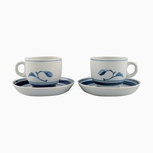 2 Corinth Kaffeetassen mit Untertassen von Bing & Grøndahl, 1970er, 4er Set