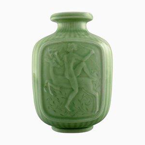 Art Deco Vase mit der Göttin Diana von Gunnar Nylund und Harald Salomon für Rörstrand