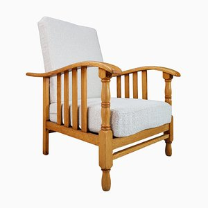 Mid-Century Armchair in Oak, France, 1950s