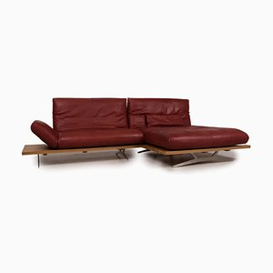 Marylin Red Leather Sofa from Koinor