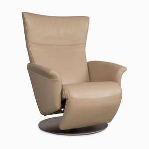 Cream Leather Armchair by Rolf Benz