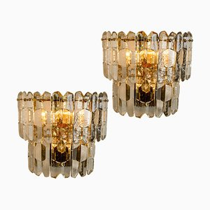 Palazzo Wall Lights in Gilt Brass and Glass from J. T. Kalmar, Set of 2