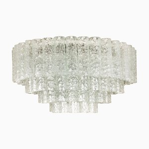 Ballroom Flush Mount with Glass Tubes from Doria, 1960s
