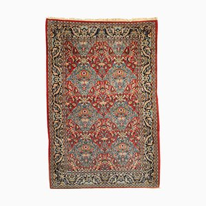 Middle Eastern Nain Carpet in Cotton & Wool, 1980s-1990s