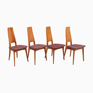 High-Back Dining Chairs by Martin Dettinger, Germany, 1950s, Set of 4