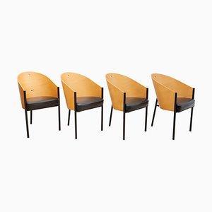 Costes Esszimmerstühle von Philippe Starck für Driade, Italien, 1980er, 4er Set