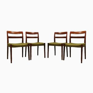 Vintage Swedish Dining Chairs by Nils Jonsson for Troeds, Set of 4