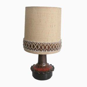 Tischlampe mit Keramikfuß, 1970er