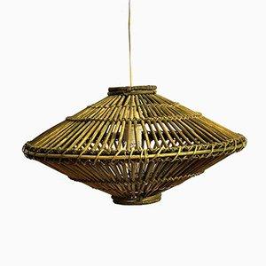 Mid-Century Bambus Deckenlampe