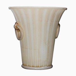 Vase mit zwei Griffen von Ercole Barovier für Barovier und Toso, 1956