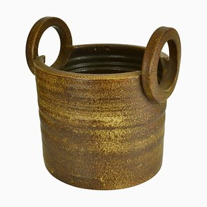 Large Two-Handled Ceramic Plant Pot from Mobach